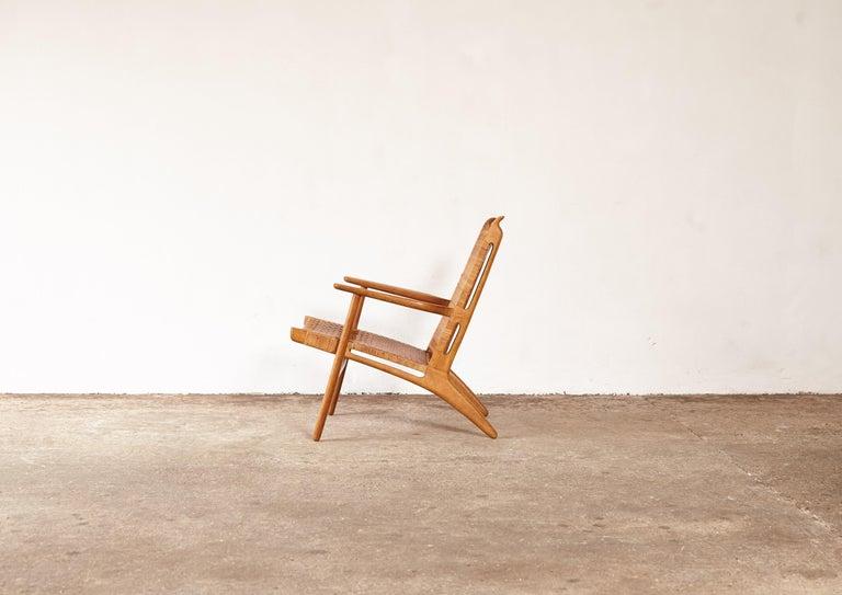 Mid-Century Modern Hans Wegner CH-27 Chair, Carl Hansen & Son, Denmark, 1950s For Sale