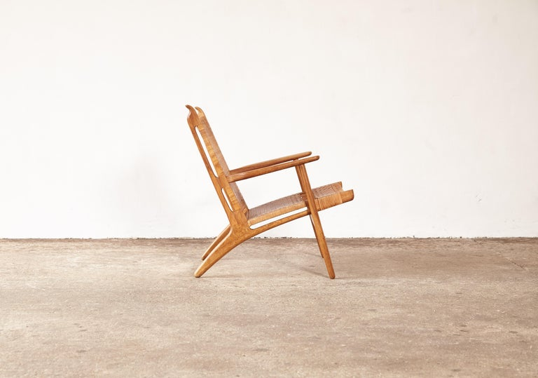 Hans Wegner CH-27 Chair, Carl Hansen & Son, Denmark, 1950s For Sale 1
