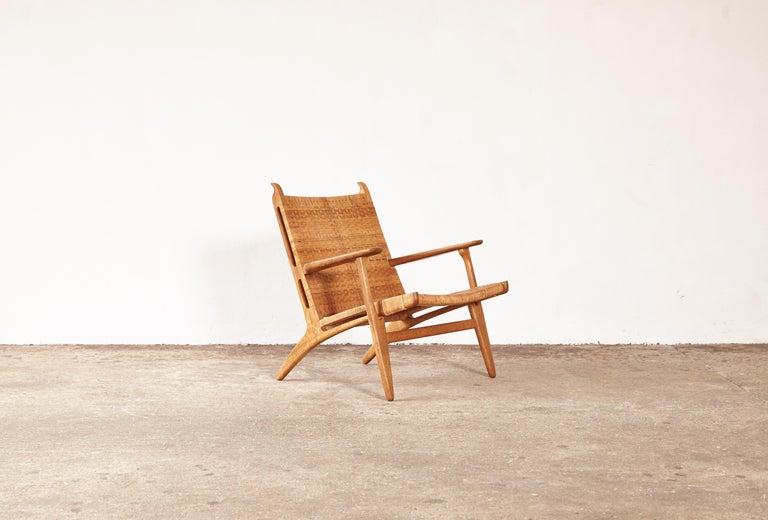 Hans Wegner CH-27 Chair, Carl Hansen & Son, Denmark, 1950s For Sale 2