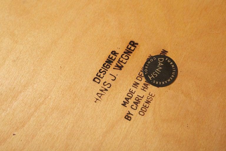 Leather Hans Wegner CH-35 Oak Armchair, 1959 For Sale