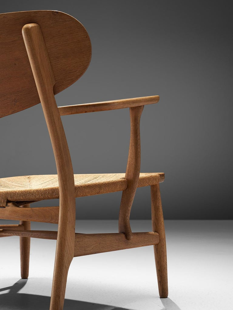 Mid-20th Century Hans Wegner CH22 Lounge Chair for Carl Hansen For Sale