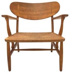 Hans Wegner CH22 Lounge Chair in Teak and Oak