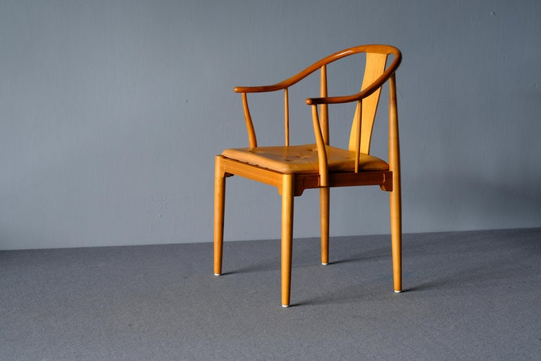 "Scandinavian Modern Mid Century Hans Wegner ""China Chair"" in Cherry For Sale"