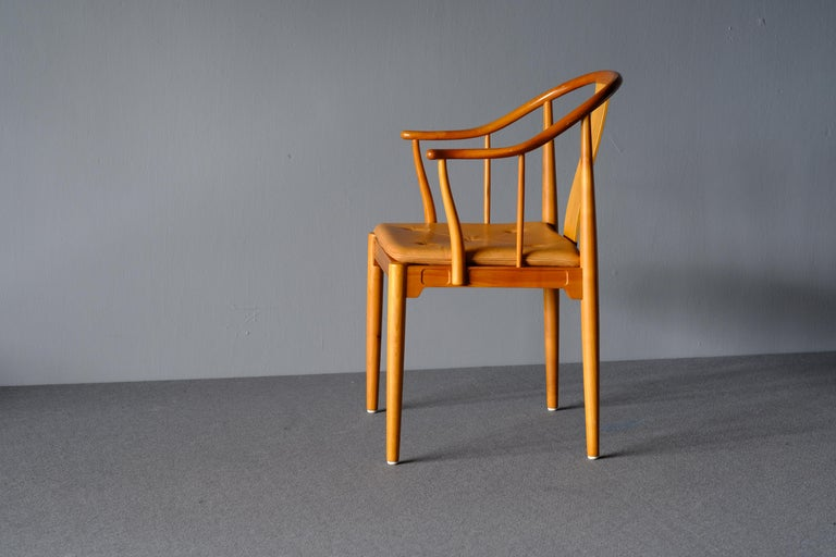 "Danish Mid Century Hans Wegner ""China Chair"" in Cherry For Sale"