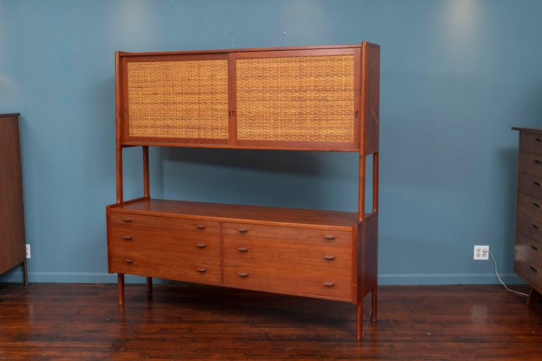Hans Wegner Credenza or Hutch for RY Mobler In Good Condition For Sale In San Francisco, CA