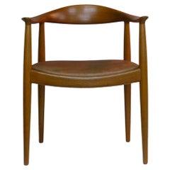 """Hans Wegner, Denmark, """"The"""" Chair for Johannes Hansen, Leather and Teak"""