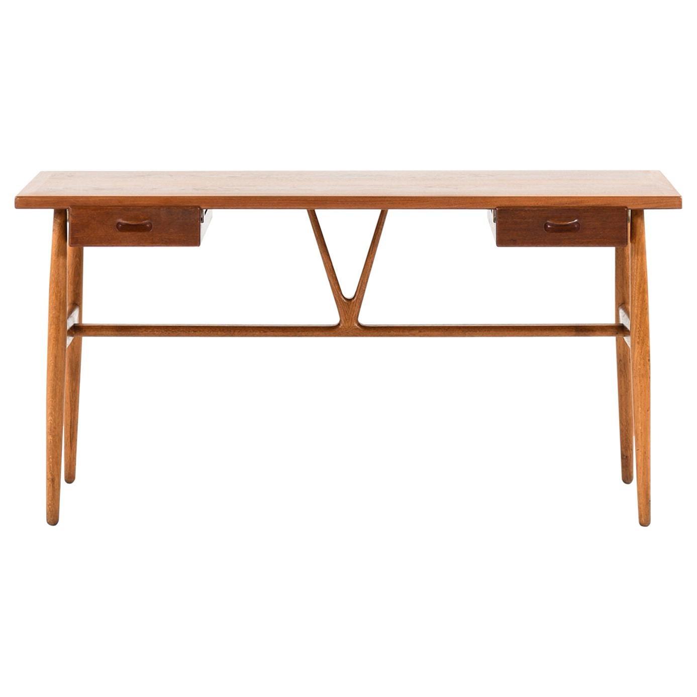 Hans Wegner Desk Model JH-563 by Cabinetmaker Johannes Hansen in Denmark