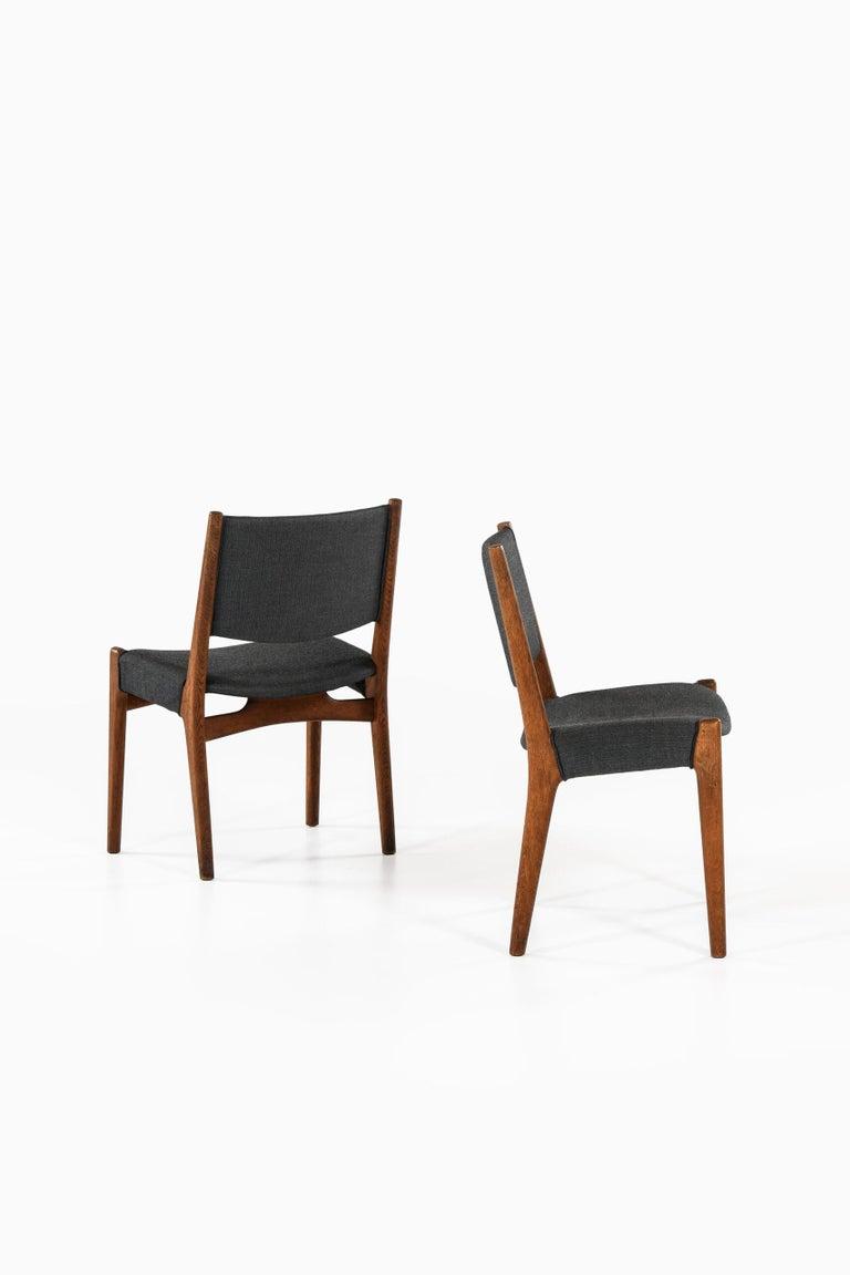 Very rare dining chairs designed by Hans Wegner. Produced by cabinetmaker Johannes Hansen in Denmark.