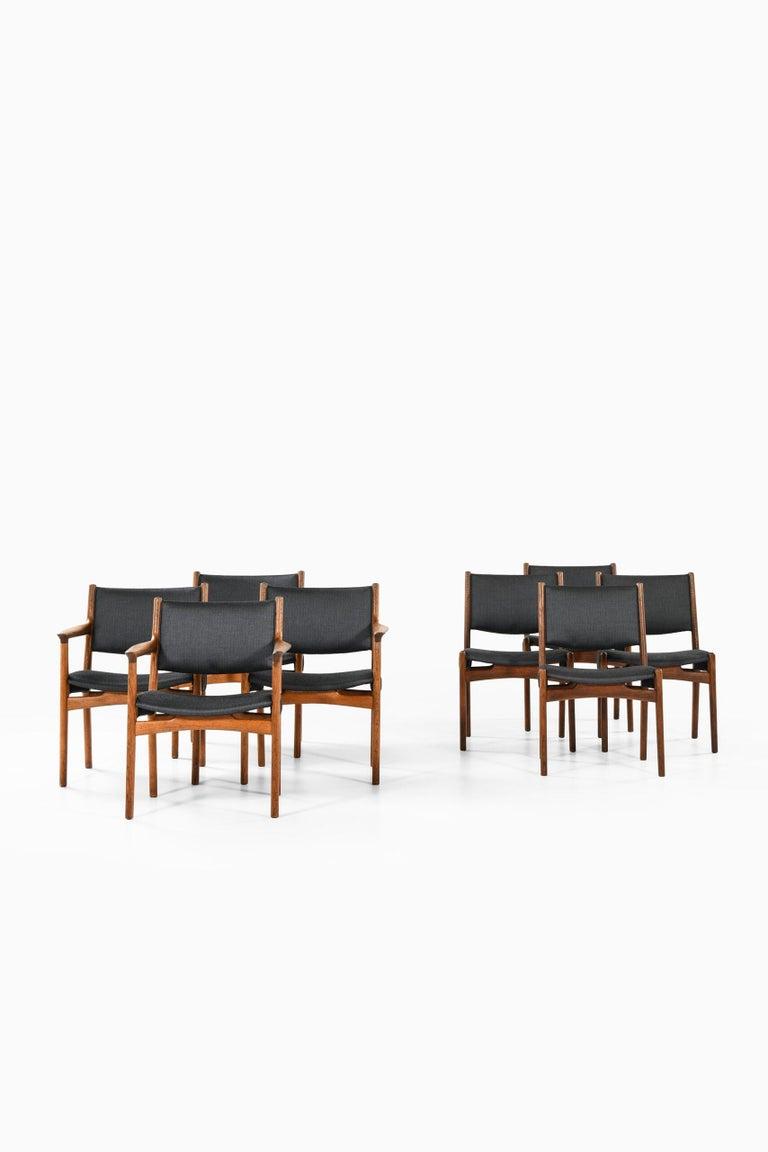 Danish Hans Wegner Dining Chairs by Cabinetmaker Johannes Hansen in Denmark For Sale