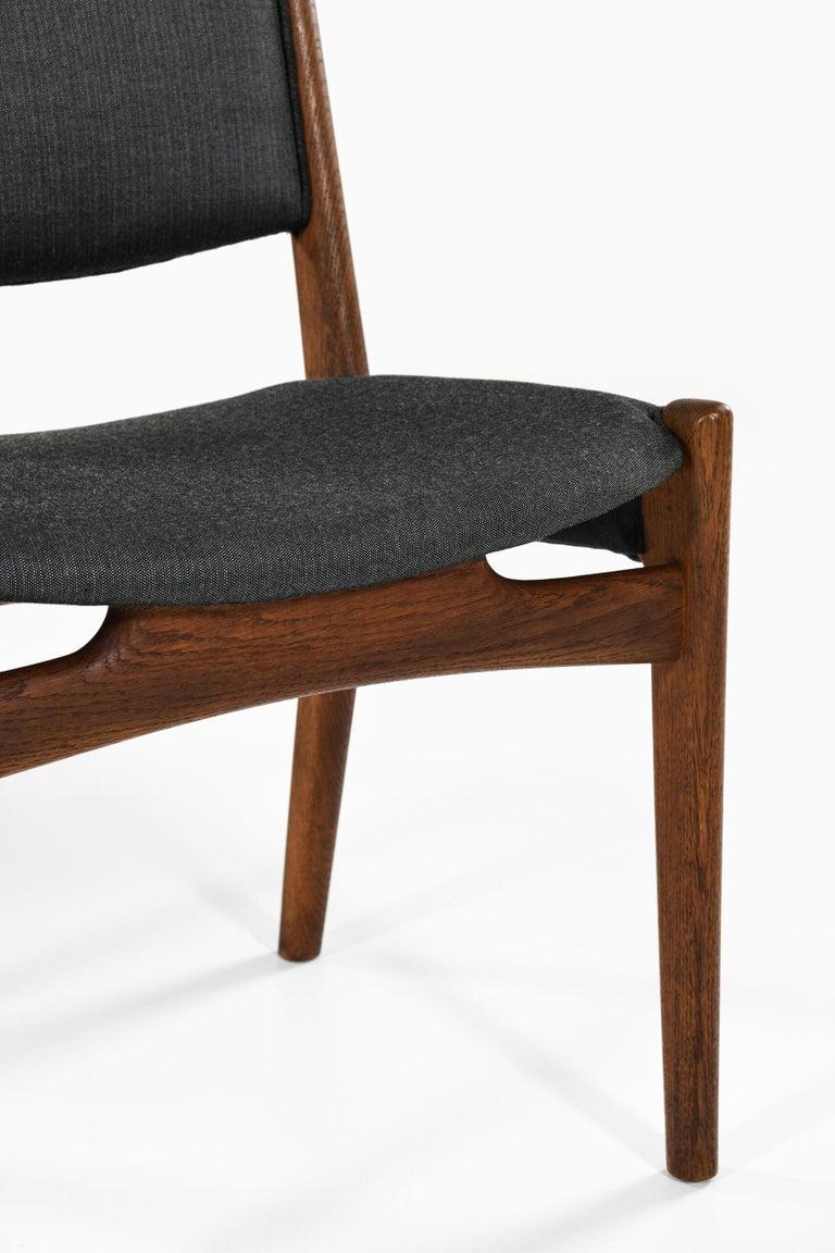 Fabric Hans Wegner Dining Chairs by Cabinetmaker Johannes Hansen in Denmark For Sale