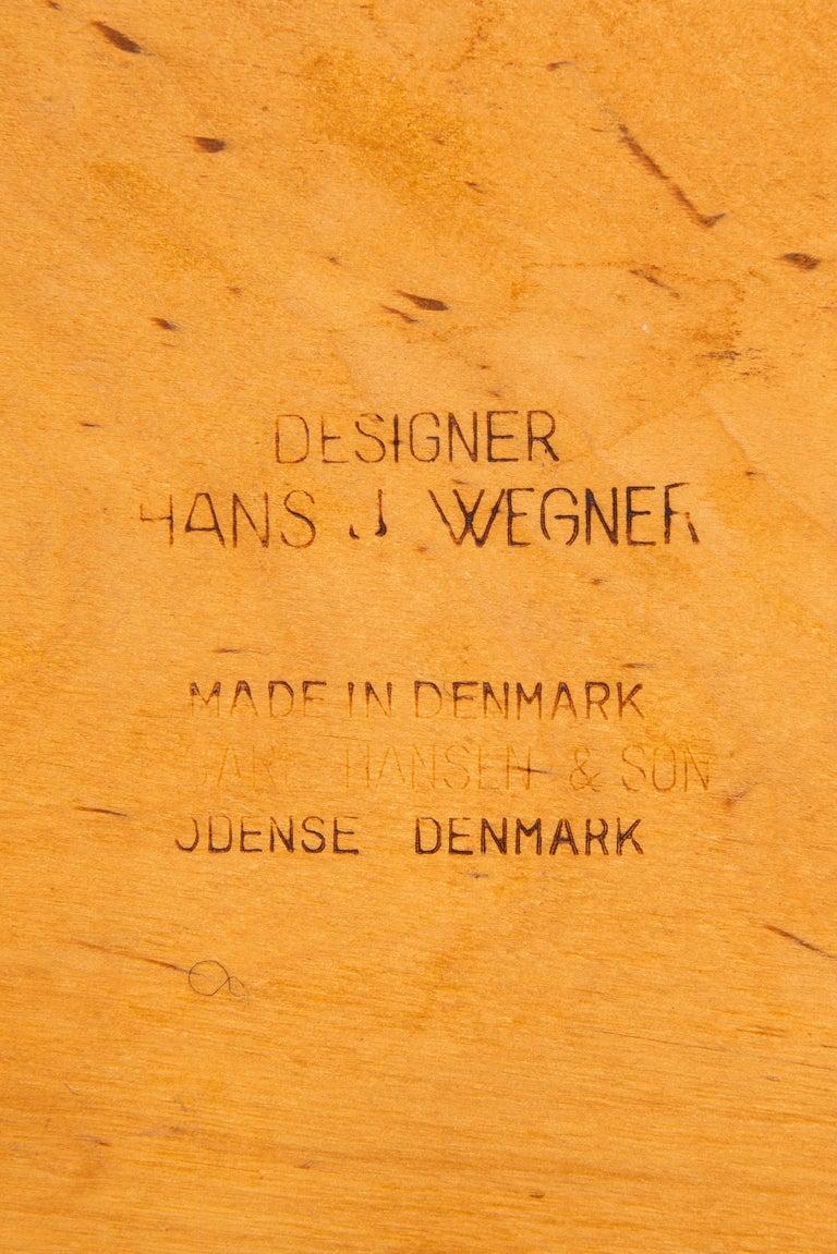 Mid-20th Century Hans Wegner Dining Chairs Model CH-30 by Carl Hansen & Son in Denmark For Sale