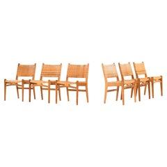 Hans Wegner Dining Chairs Model CH-31 Produced by Carl Hansen & Son in Denmark