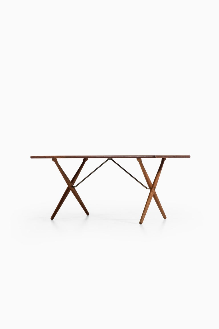 Brass Hans Wegner Dining Table Model AT-303 Produced by Andreas Tuck in Denmark For Sale