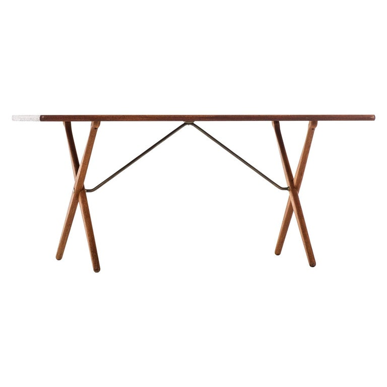Hans Wegner Dining Table Model AT-303 Produced by Andreas Tuck in Denmark For Sale