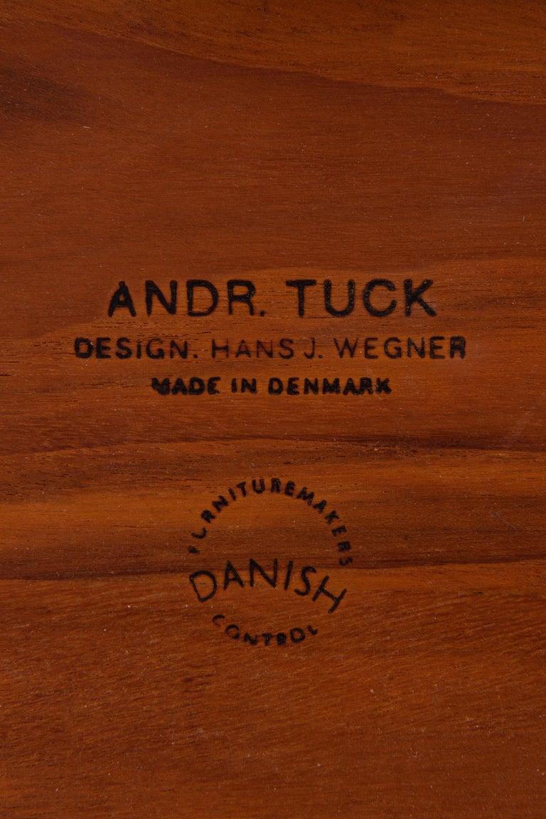 Scandinavian Modern Hans Wegner Dining Table Model AT-304 Produced by Andreas Tuck in Denmark For Sale