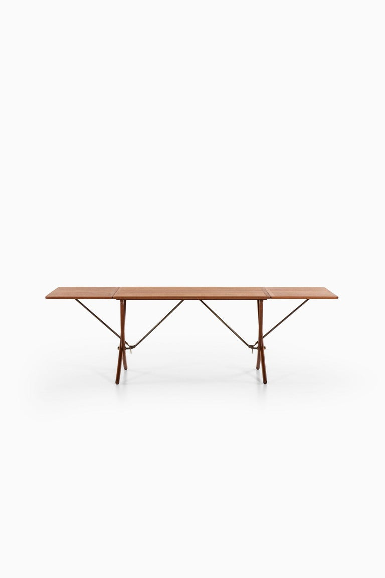 Brass Hans Wegner Dining Table Model AT-304 Produced by Andreas Tuck in Denmark For Sale