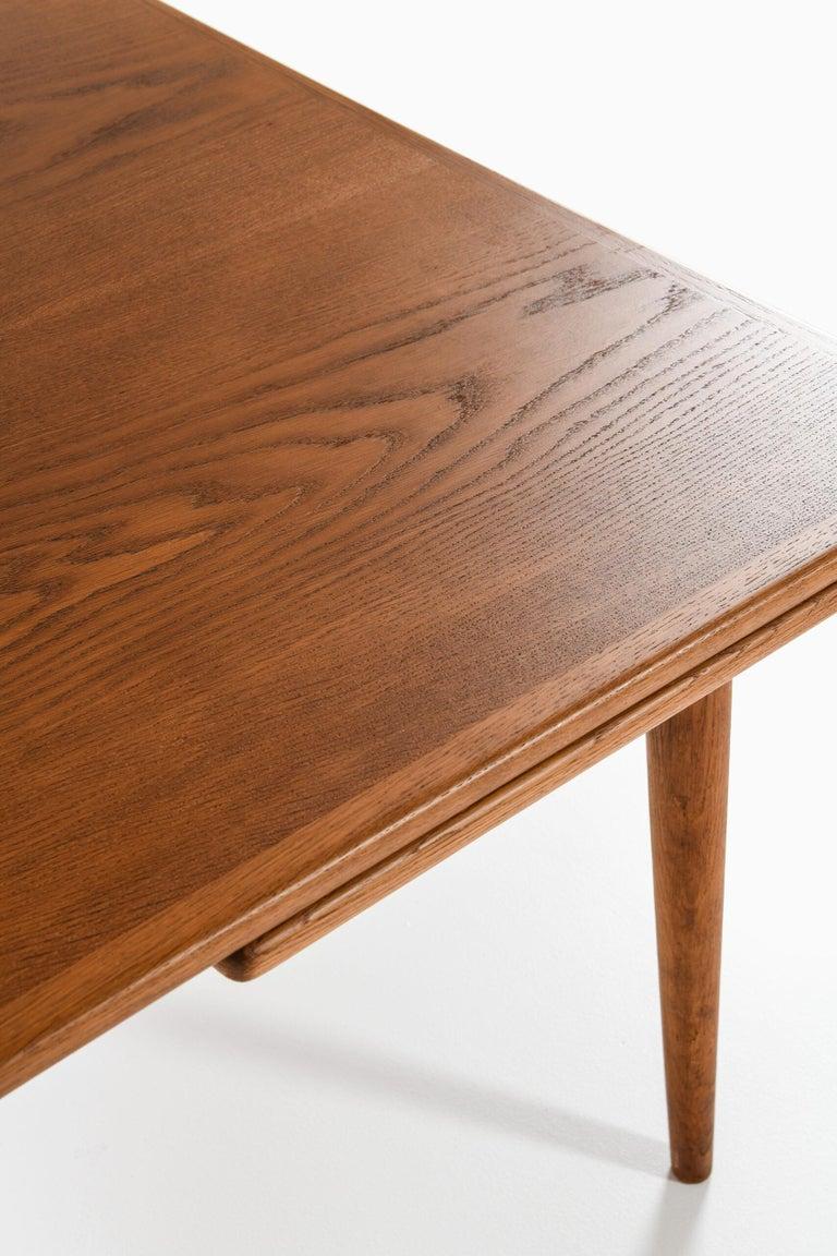 Scandinavian Modern Hans Wegner Dining Table Model AT-312 Produced by Andreas Tuck in Denmark For Sale