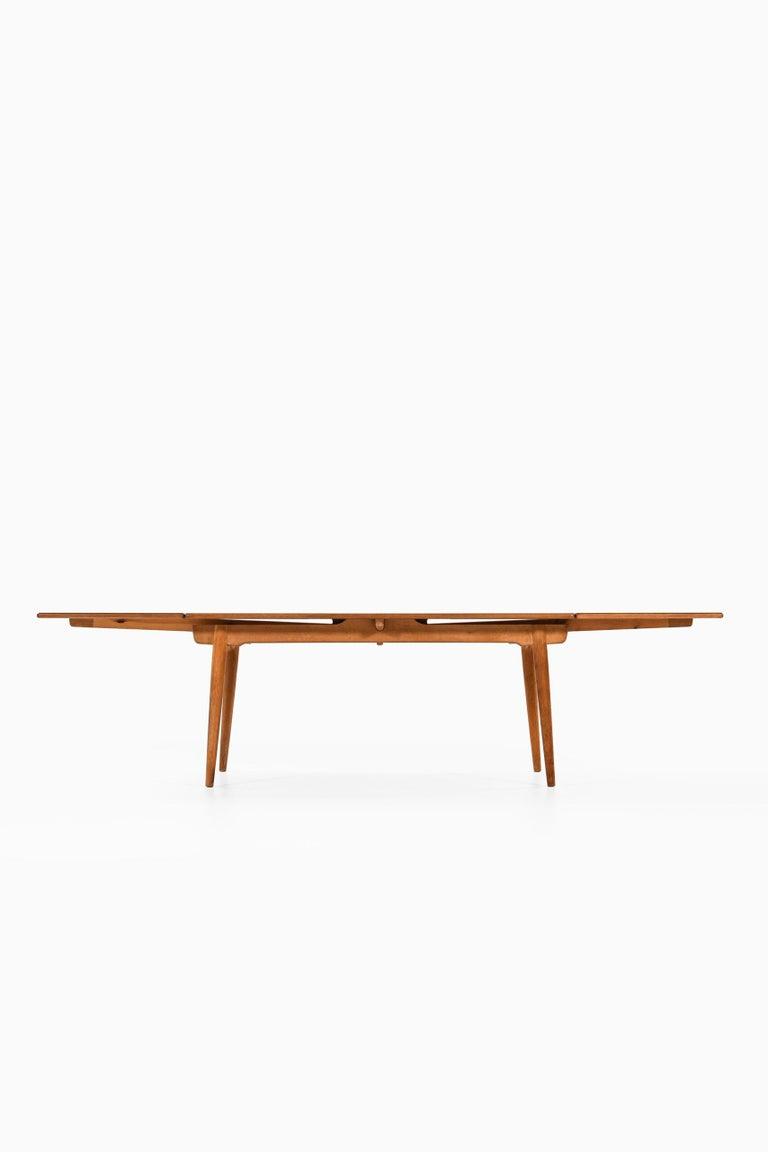 Oak Hans Wegner Dining Table Model AT-312 Produced by Andreas Tuck in Denmark For Sale