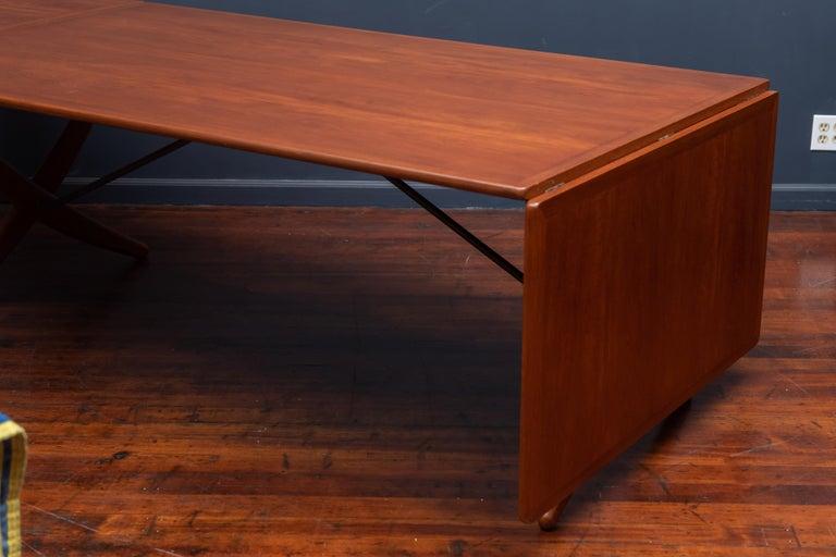 Teak Hans Wegner Dining Table Model AT-314 For Sale