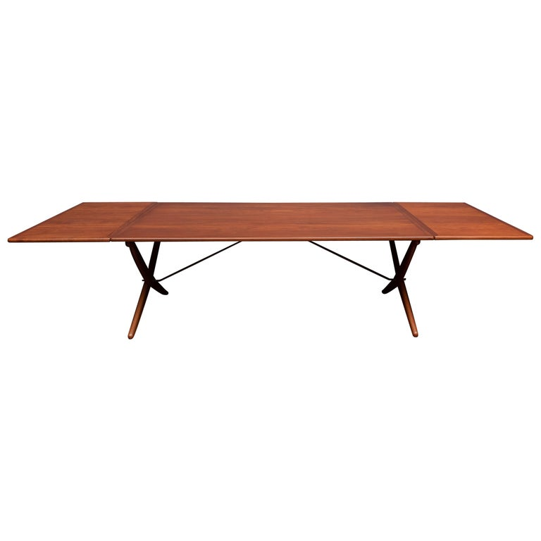 Hans Wegner Dining Table Model AT-314 For Sale