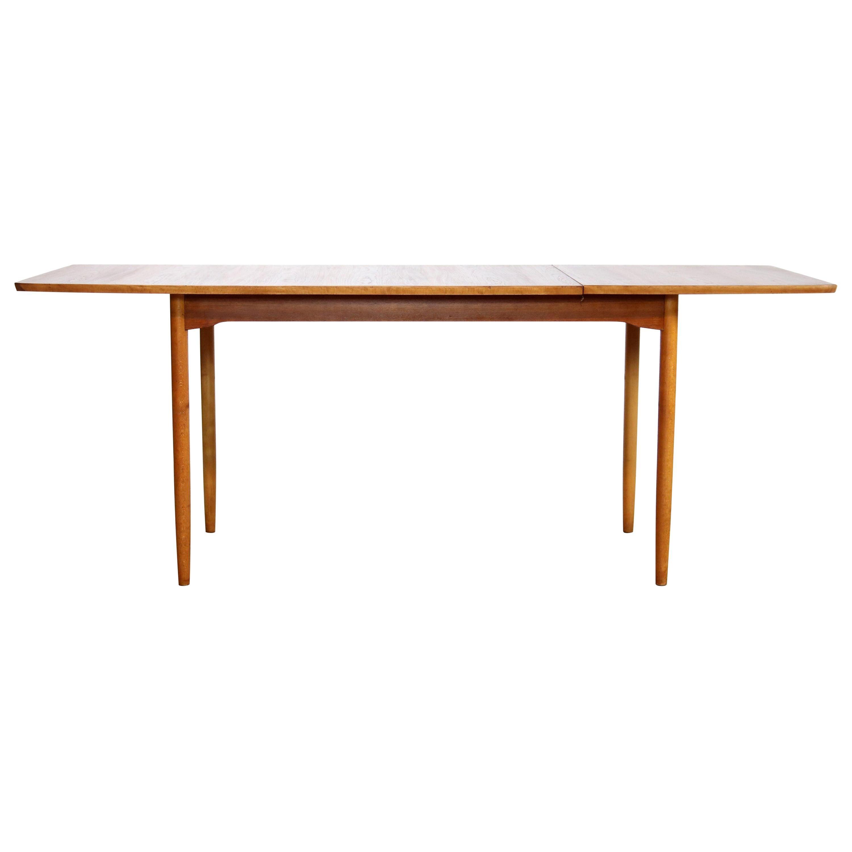 Hans Wegner Drop-Leaf Dining Room Table in Teak by Andreas Tuck, 1950, Denmark