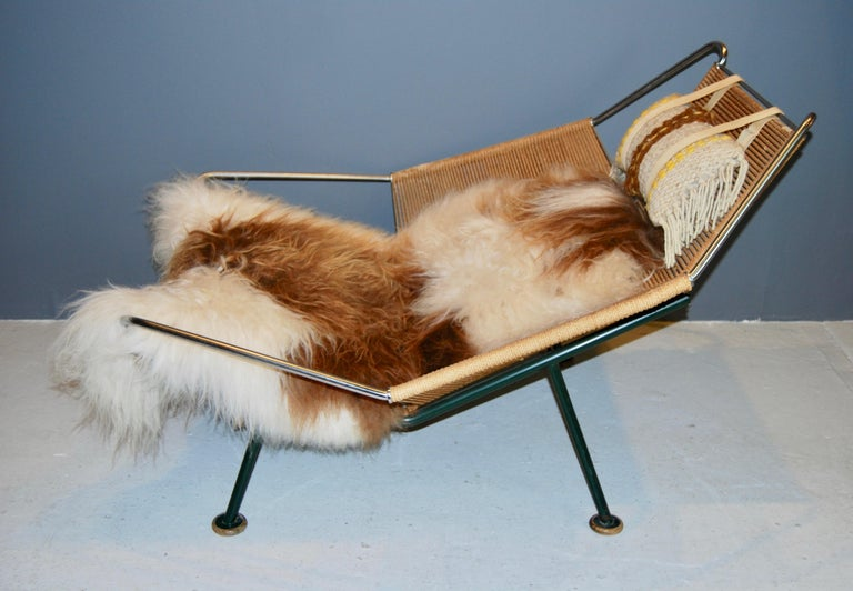 Danish Hans Wegner, Early Flag Halyard Chair, GE 225 For Sale