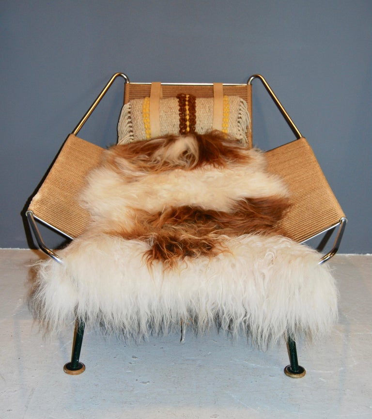 Mid-20th Century Hans Wegner, Early Flag Halyard Chair, GE 225 For Sale