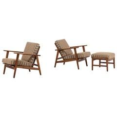 Hans Wegner Early GE-233 Easy Chairs by GETAMA in Denmark