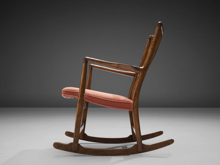 Mid-20th Century Hans Wegner Early 'ML-33' Rocking Chair For Sale