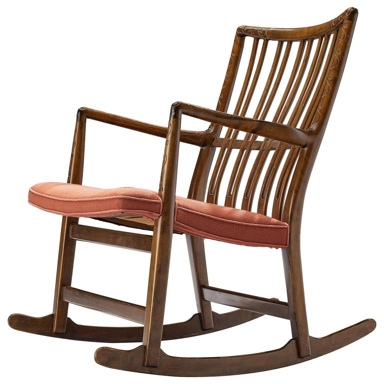 Hans Wegner Early 'ML-33' Rocking Chair For Sale
