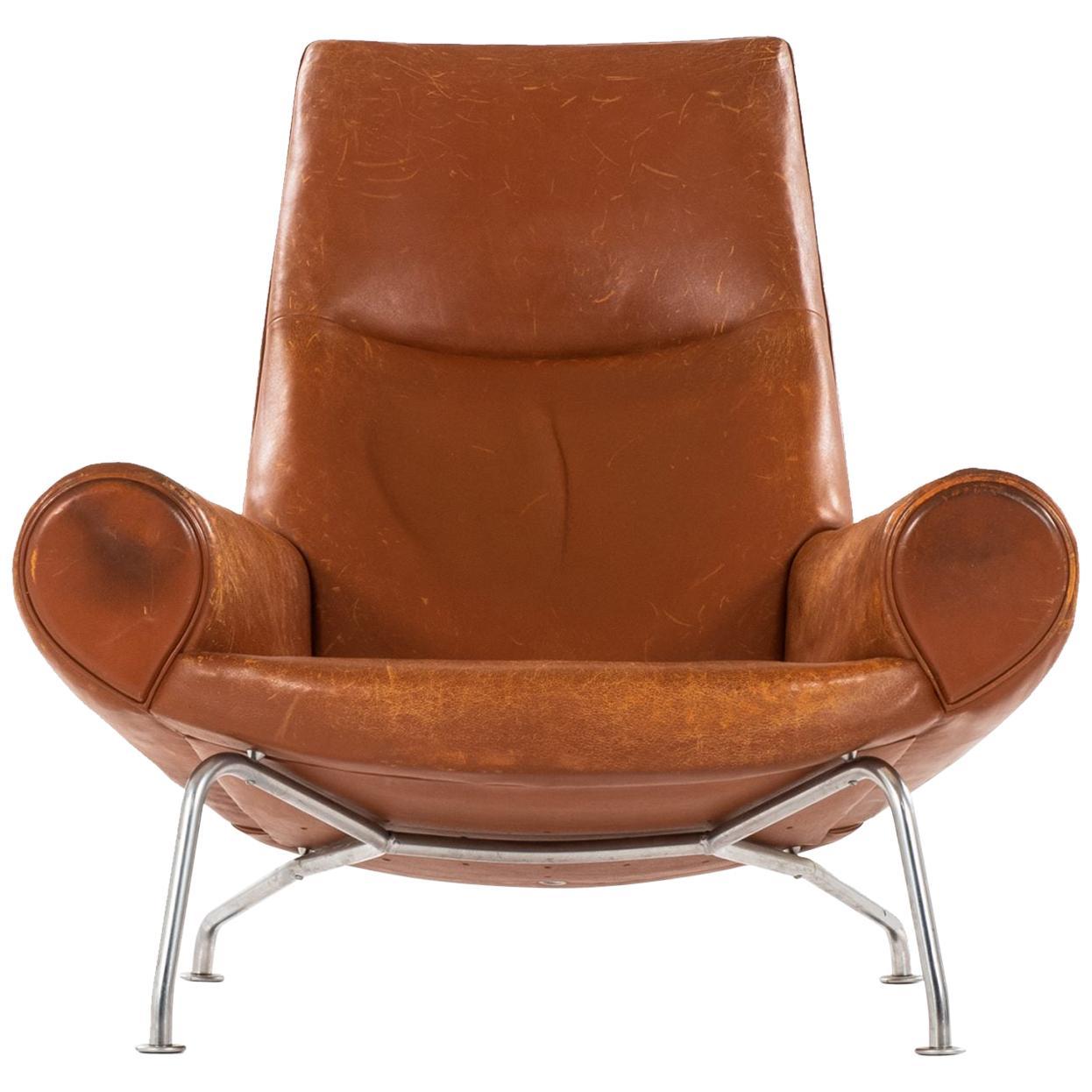 Hans Wegner Easy Chair Model AP47 / Queen OX Chair by A.P. Stolen in Denmark