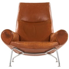 Hans Wegner Easy Chair Model AP47 / Queen OX Chair by A.P. Stolen in Denmark