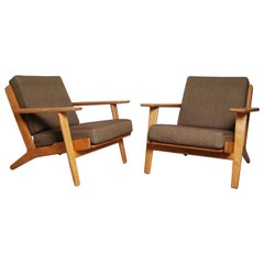 Hans Wegner Easy Chairs GE-290 Produced by GETAMA in Denmark