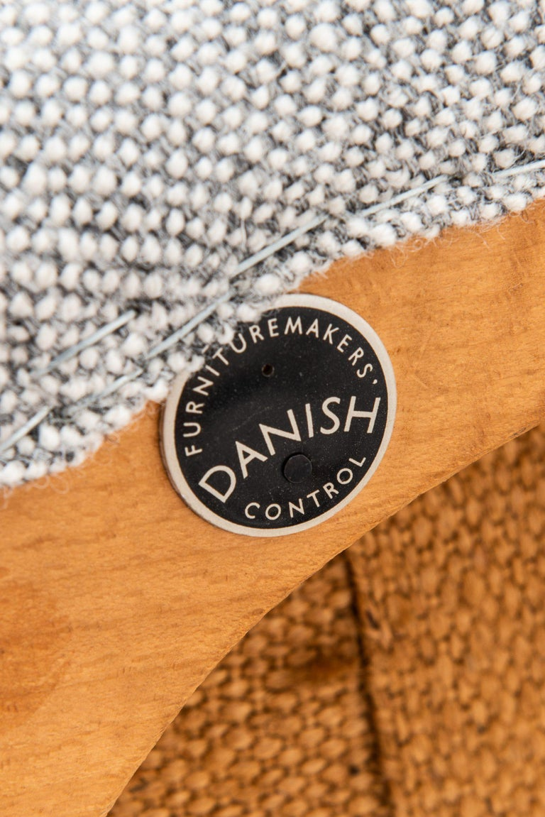 Fabric Hans Wegner Easy Chairs Model AP20 Produced by A.P. Stolen in Denmark For Sale