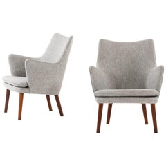Hans Wegner Easy Chairs Model AP20 Produced by A.P. Stolen in Denmark