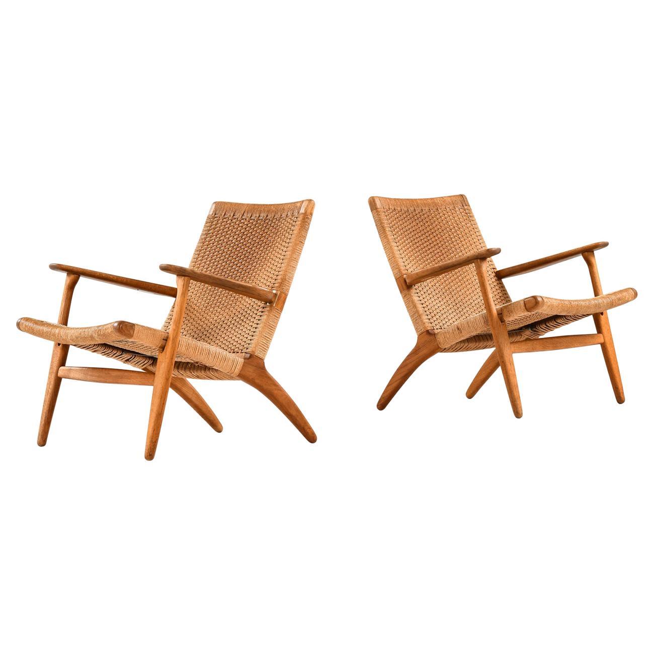 Hans Wegner Easy Chairs Model CH-25 Produced by Carl Hansen & Son in Denmark