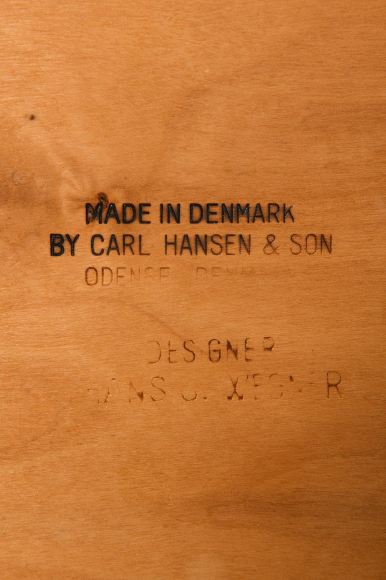 Hans Wegner Easy Chairs Model CH-28 Produced by Carl Hansen & Søn in Denmark For Sale 3