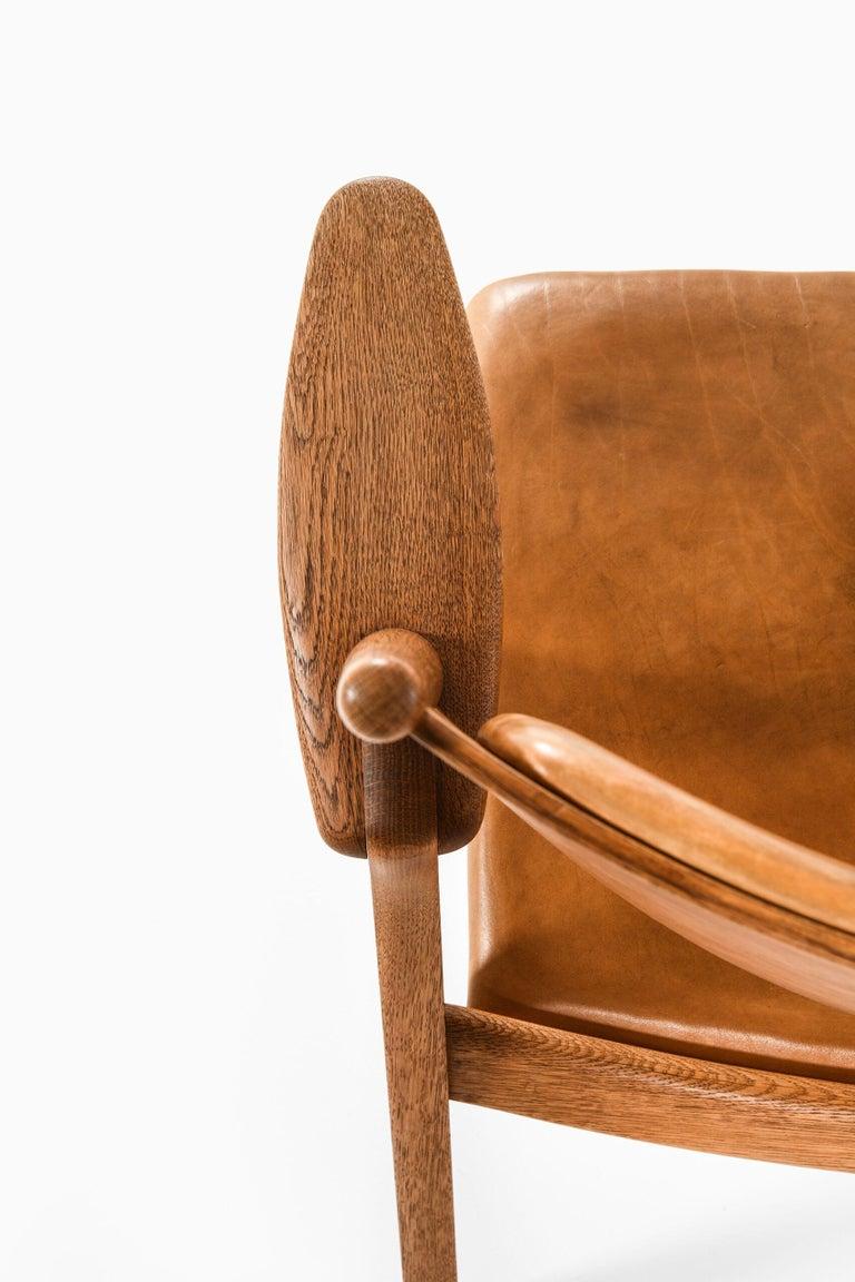 Danish Hans Wegner Easy Chairs Model CH-28 Produced by Carl Hansen & Søn in Denmark For Sale
