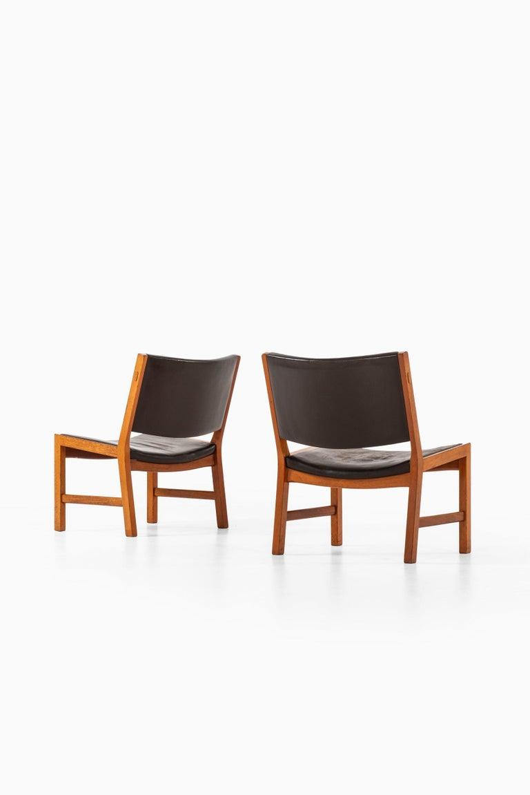 Danish Hans Wegner Easy Chairs Model JH54 by Cabinetmaker Johannes Hansen in Denmark For Sale