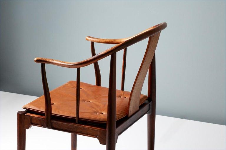 Scandinavian Modern Hans Wegner FH-4283 Rosewood China Chair
