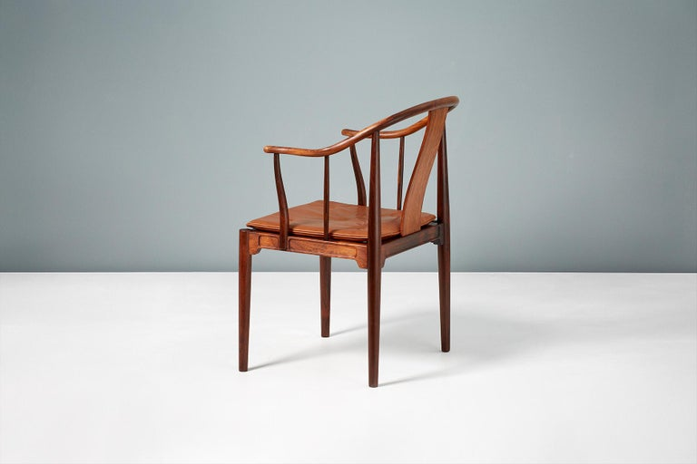 Hans Wegner FH-4283 Rosewood China Chair In Excellent Condition In London, GB