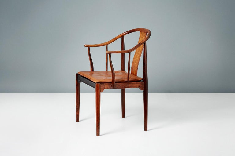 Mid-20th Century Hans Wegner FH-4283 Rosewood China Chair For Sale