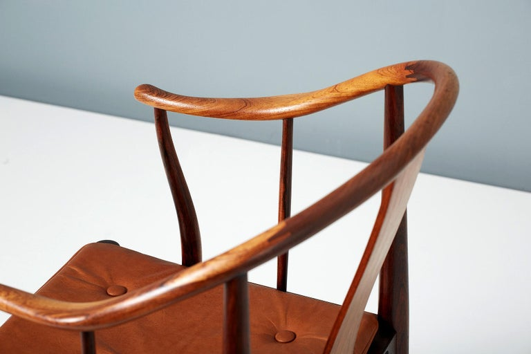 Hans Wegner FH-4283 Rosewood China Chair For Sale 3