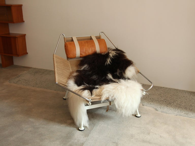 Mid-Century Modern Hans Wegner, Flag Halyard Lounge Chair, circa 1950 For Sale
