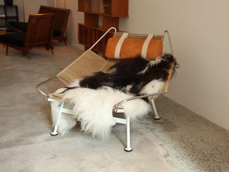 Danish Hans Wegner, Flag Halyard Lounge Chair, circa 1950 For Sale
