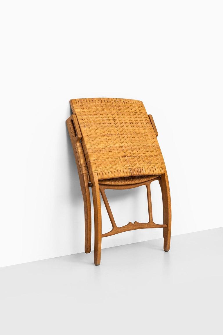Hans Wegner Folding Chair Model JH512 by Johannes Hansen in Denmark 4