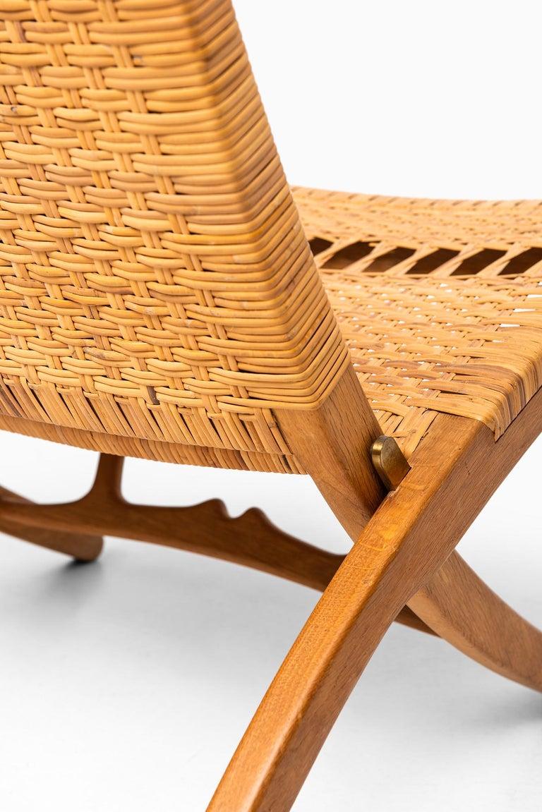Oak Hans Wegner Folding Chair Model JH512 by Johannes Hansen in Denmark