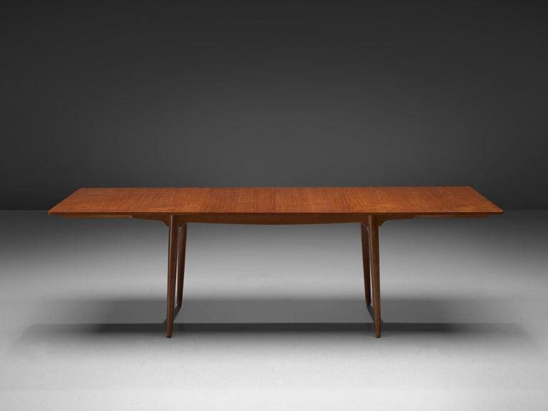 Scandinavian Modern Hans Wegner for Andreas Tuck Extendable Table in Teak and Oak For Sale