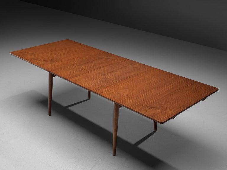 Danish Hans Wegner for Andreas Tuck Extendable Table in Teak and Oak For Sale