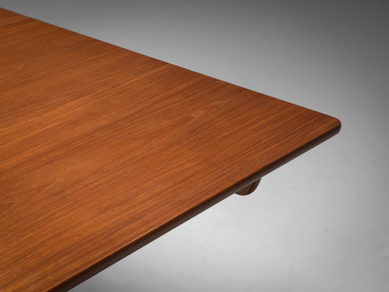 Hans Wegner for Andreas Tuck Extendable Table in Teak and Oak For Sale 1